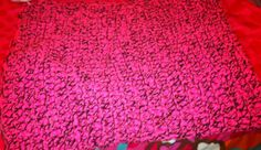 Pink & Black Chunky blanket for my daughter's Christmas present.