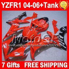 Купить товарКрасный черный 7 подарки + для YAMAHA YZFR1 04 05 06 YZF 1000 YZF R1 04 06 светло красный черный P10181 YZF1000 YZF R1 2004 2005 2006 обтекатели в категории Щитки и художественная формовкана AliExpress.                              Удостоверение личности aliexpress: MotoGP