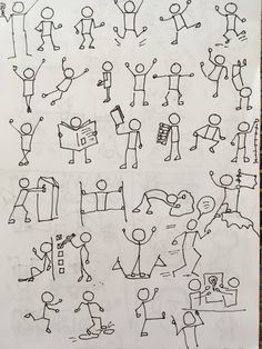 Drawing Tips draw a stickman Doodle Drawings, Cartoon Drawings, Doodle Art, Easy Drawings, Drawing Techniques, Drawing Tips, Tanz Poster, Visual Note Taking, Stick Figure Drawing