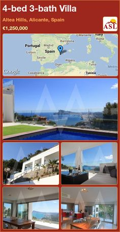 4-bed 3-bath Villa in Altea Hills, Alicante, Spain ►€1,250,000 #PropertyForSaleInSpain