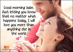 Wake up your lover with these 50 good morning love sms texts! Tell your boo you care, and keep 'em coming back for more; because love is the best feeling EV Good Morning Love Messages, Good Morning Quotes For Him, Love You Messages, Good Morning My Love, Good Morning Texts, Morning Post, Morning Sweetheart, Missing You Quotes For Him, I Love You Baby