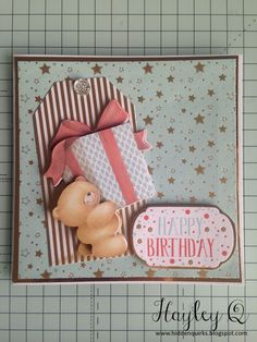 Hidden Quirks: Docrafts | Forever Friends Classic Decadence Collection Birthday Cards For Friends, Friend Birthday, Bear Birthday, Happy Birthday, Forever Friends Cards, Scrapbook Cards, Scrapbooking, Create And Craft, Butterfly Cards
