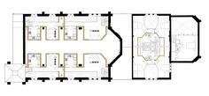OSA_A184_FIRST PLAN Church Conversions, Brickwork, Floor Plans, How To Plan, Design, Masonry Construction, Design Comics, Brick Walls, House Floor Plans