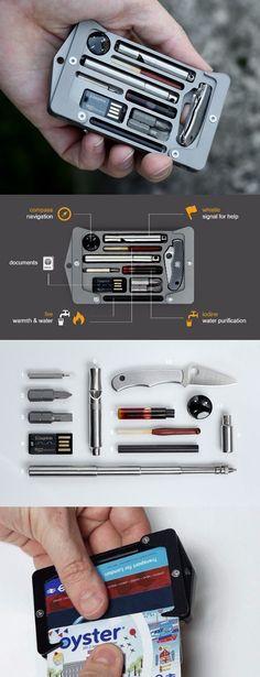 Jackfish Survival EDC Everyday Carry Credit Card Holder Aluminium with EDC Survival Essential Tools @aegisgears https://www.jackfishsurvival.com/