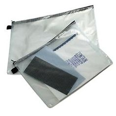 The Container Store > Zippered Vinyl & Mesh Pouches