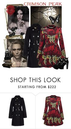 """Indulge Your Dark Side with Crimson Peak : Contest Entry"" by elizabethcarter ❤ liked on Polyvore featuring MICHAEL Michael Kors, Marc by Marc Jacobs, Jeffrey Campbell and vintage"