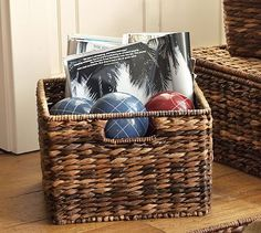 Havana Utility Baskets from Pottery Barn - solution for the craft room cubbies.  3 sizes available.  Attractive, sturdy, and a perfect fit!