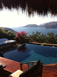 I have wanted to stay here for years.... Bucket list hell, this is a thimble list item. Spectacular views, plunge pools, world class food, and fantastic service. Trip Advisors #1 Romantic Hotel in Zihuatanejo.