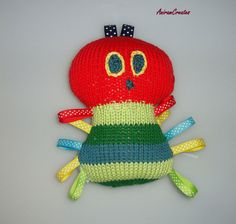 The Very Hungry Caterpillar hand knitted soft by AniramCreates, £18.99
