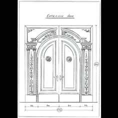 Entrance door. #art #drawing #artist #sketch #paper #  sc 1 st  Pinterest & Drawing. Door #art #drawing #artist #sketch #paper #pencil #gallery ...