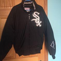 White Sox Jacket Nylon shell/ fleece lining unisex Chicago White Sox Jacket Majestic Jackets & Coats