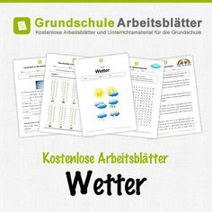 Kostenlose Arbeitsblätter und Unterrichtsmaterial für den Sachunterricht zum Thema Wetter in der Grundschule.
