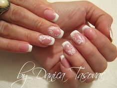 211 best Bridal Wedding Nail Art images on Pinterest | Wedding ...