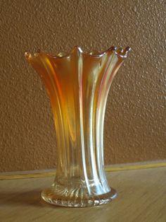 Carnival Glass: Northwood Vase by 2012VintageTreasures on Etsy