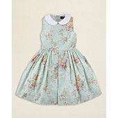Ralph Lauren Childrenswear Girls Floral Cotton Dress - Sizes 2T-6X