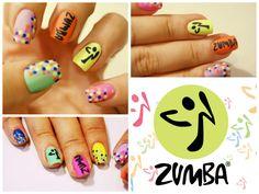 zumba inspired nail design