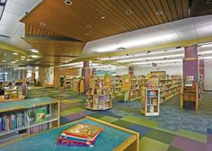 1.The children's section of the new Addison Public Library. Photo by Joe Kay, Joe Kay Studios.