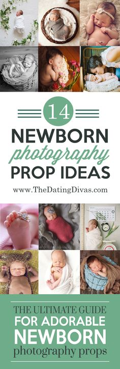 Soooo many cute prop ideas for a newborn photo shoot! Such a good resource! Pinning for later! www.TheDatingDivas.com
