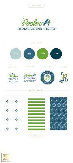 Emily McCarthy Branding Design |  Pooler Pediatric Dentistry Branding Board