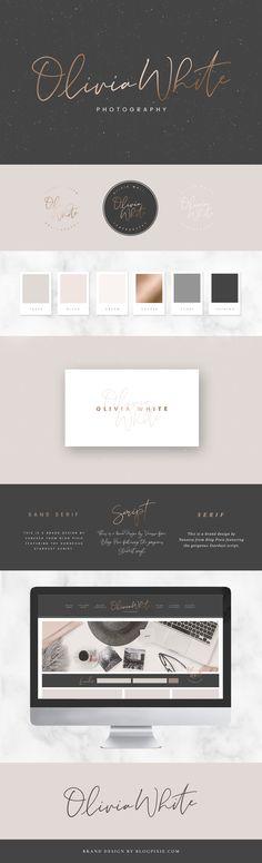 Branding design identity, logo and inspiration. Photography brand logo using Stardust signature font. Minimalist, modern design by Blog Pixie.