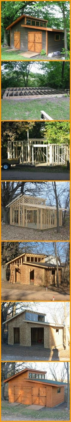 WOOD GARDEN SHED ~ 2 LINKS ~ http://www.handimania.com/diy/wood-garden-shed.html