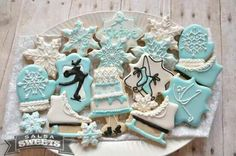 Winter Ice Skating (Decorated Cookies)