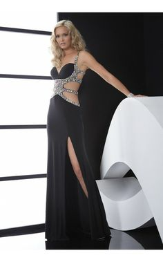 Jasz Couture 5035, beaded black evening dress Picture