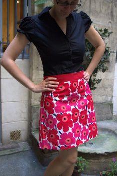 Jupe trapèze à fleurs / Spring A-line skirt - Les cousettes de Marinette