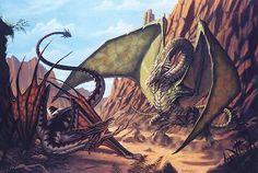 Knucker - a water dragon living in knuckerholes in Sussex, England
