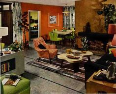 This 1952 living room dining room comes courtesy the interior designers at Armstrong Flooring.