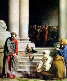 Peter denies the Savior thrice... - Carl Bloch