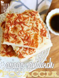 Cheesy Asiago Sandwich Focaccia