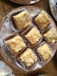 Castel aux amandes et créme au beurre citron