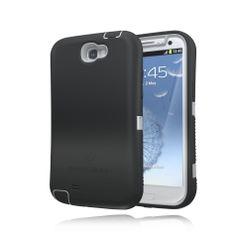 ZeroLemon Samsung Galaxy Note 2 ZeroShock Rugged Metal Grey / Viper Black Case + Holster/KickStand for Original Slim & 9300mAh Extended Battery Case ***Battery NOT Included*** (Compatible with Samsung Galaxy Note II GT-N7100, T-Mobile Galaxy Note II SGH-T889, Sprint Galaxy Note 2 SPH-L900, At&t Samsung Galaxy Note II SGH-i317, and Verizon SCH-i605) Note 2-R-Grey/Black