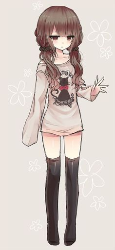 Uploaded by Find images and videos about cute, anime and kawaii on We Heart It - the app to get lost in what you love. Anime Chibi, Lolis Anime, Chica Anime Manga, Kawaii Anime Girl, Cool Anime Girl, Anime Art Girl, Anime Girls, Kawaii Chibi, Emo Girls