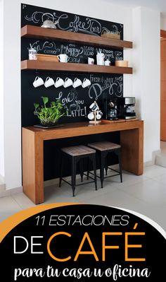 Coffee Bar Station, Coffee Station Kitchen, Coffee Bars In Kitchen, Coffee Bar Home, Home Coffee Stations, Coffee Nook, Coffee Corner, Home Decor Kitchen, Diy Home Decor