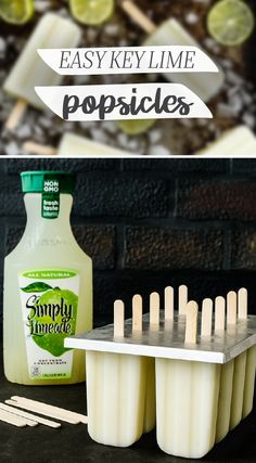 Four ingredients are all it takes to make these Key Lime Pie Popsicles for your family. We're talkin' Simply Limeade®, sweetened condensed milk, Greek yogurt, and fresh lime zest! After grabbing all t (Four Ingredients Desserts) Summer Snacks, Summer Treats, Summer Desserts, Just Desserts, Delicious Desserts, Dessert Recipes, Yummy Food, Frozen Desserts, Frozen Treats