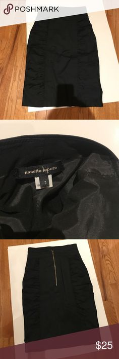 Beautiful Nanette Lepore black pencil skirt Gorgeous black pencil skirt size small lightly worn Nanette Lepore Skirts Midi