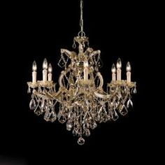 Check out the Crystorama 4409-AB-GTS Maria Theresa 9 Light Chandelier in Antique Brass with Golden Teak Swarovski Elements priced at $5,000.00 at Homeclick.com.