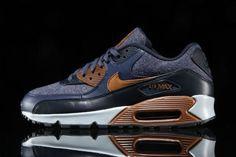 san francisco 61016 7e63c thunderblue Air Max 90 Premium, Air Max Sneakers, Sneakers Nike, Nike Air  Max