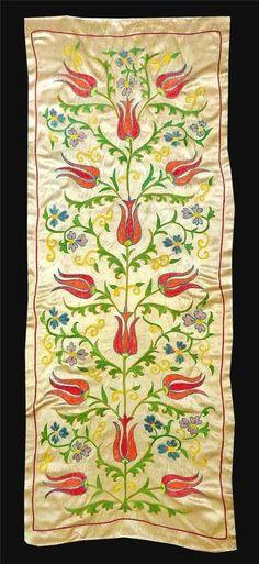 Gorgeous UZBEK Ottoman Silk Handmade Embroidery Long SUZANIV3327 | eBay