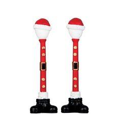 64067 Lemax Santa Street Lamp Set of 2 2016 Pre Order Lemax Village, Santa Pictures, Hobby Supplies, Street Lamp, Christmas Store, Christmas Villages, Lamp Sets, Santa Hat, Model Trains