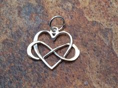 Infinity Heart Charm, Infinity Charm, Heart Charm, Infinity Link, Infinity Connector, Infinity Pendant, Sterling Silver