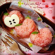 りんごちゃんおにぎり☆お弁当|きみたちと毎日を~Ryo♪'s Dia… |Ameba (アメーバ)