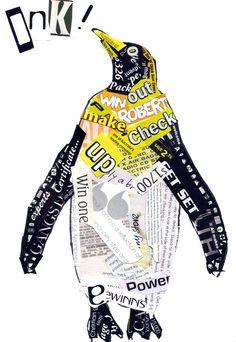 collage penguin Mainio idea sanomalehti-/aikakauslehtiviikolle.