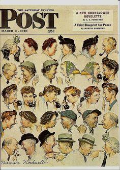 """Norman Rockwell's """"Gossip"""""""