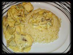 Κοτόπουλο αλα κρεμ με ρύζι (4 μονάδες)