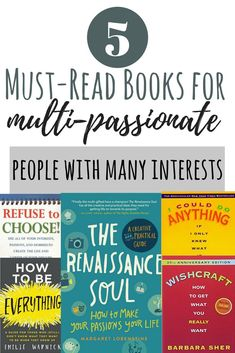 Books on how to find your passion if you are a multipotentialite or have many different interests and passions. We all know what multi-passionate means. Someone who is multi-passionate is highly enthusiastic about many things. But understanding what it means to be a scanner, and having multiple passions and interests, is more complex than that. H