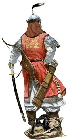 Монгольский тяжеловооруженный всадник, Китай, 1210-1276 годы.