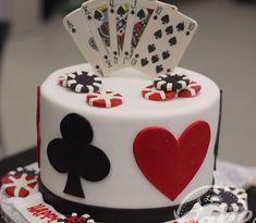 35th Birthday Cakes, Birthday Cake For Women Simple, 50th Birthday Cake For Women, 30th Birthday Themes, Birthday Ideas, Birthday Cards, Fète Casino, Casino Cakes, Casino Party